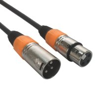 XLR Kabel 1m - Orange Markierung - AC-XMXF/1