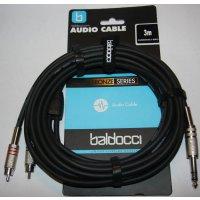 Adapterkabel - Klinke (stereo) auf 2x Chich - 3Meter -...
