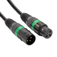 DMX-Kabel 5m - Grüner Ring - AC-DMX3/5 3 p.